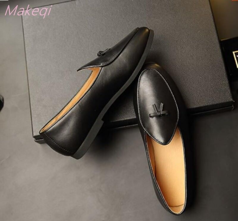 Chic Uomo Bowknot Pelle Slip Business on Flats Business Slip Formal Worker Casual Loafer Shoe b23c16