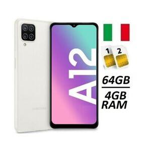 SAMSUNG GALAXY A12 DUAL SIM SM- A125 DS 64GB RAM 4GB WHITE ITALIA NO BRAND