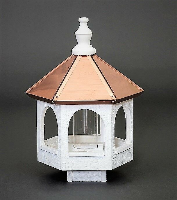 Copper roof Bird Feeder Amish handmade handcrafted copper top Large 21  tall