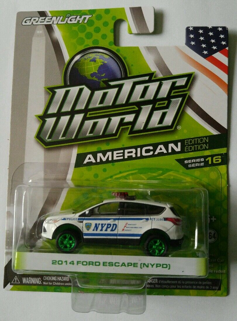 GREENLIGHT Motor World CHASE 2014 FORD ESCAPE (NYPD) American series 16  NEW