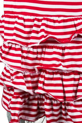 Ringelkleid Karnevalskostüm Karneval Kleid Clown Kostüm lang rot weiß Fasching