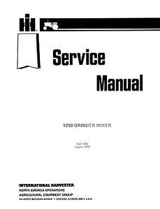 International-1250-Grinder-Mixer-Service-Manual-IH