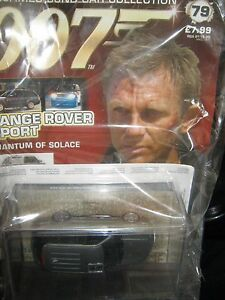 James-bond-cars-collection-OO7-RANGEROVER-SPORT-ISSUE-79-amp-MAG-1-43-NEW-amp-SEALED