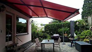 markise gelenkarm sunrain 4x2 meter mit elektromotor. Black Bedroom Furniture Sets. Home Design Ideas