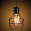 thumbnail 8 - Industrial-Vintage-Metal-Cage-Ceiling-Pendant-Light-Holder-Lamp-Shade-Fixtures