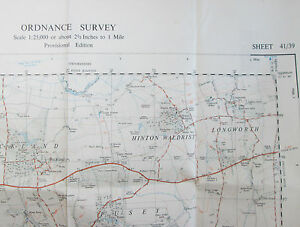 1949 OS Ordnance Survey 125000 1st Series Map SU 39 Stanford in