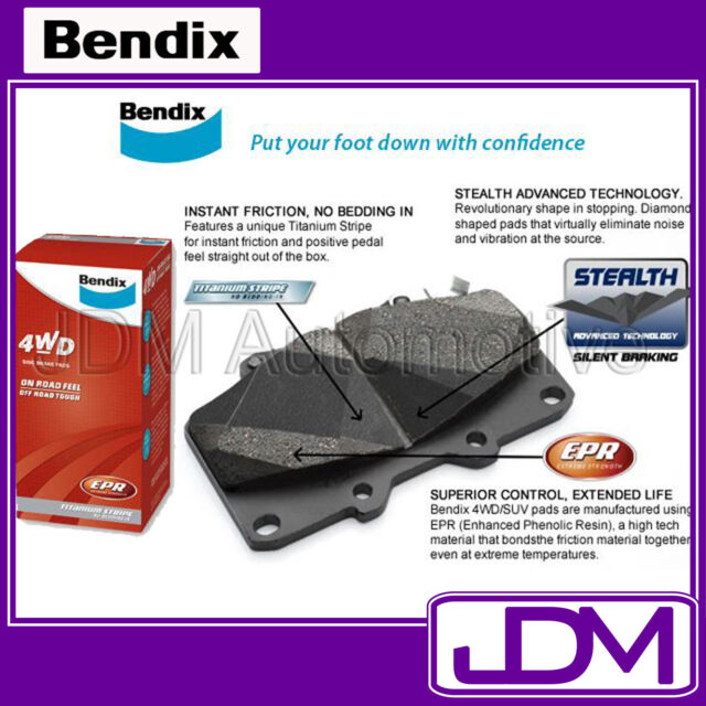 BENDIX Front Pads TO FIT Toyota Landcruiser 70 series 1990-99
