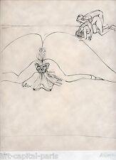 BELLMER HANS GRAVURE 1973 SIGNÉE AU CRAYON NUM/40 HANDSIGNED ETCHING SURRÉALISME