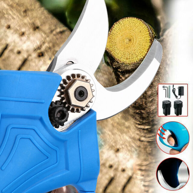25mm Electric Pruning Shears Cordless Pruner Trimmer Scissors Branch Tree Blade