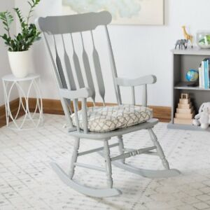 Image Is Loading Beige Blue Gray Modern Geometric Print Rocking Chair