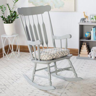 Beige Blue Gray Modern Geometric Print Rocking Chair Seat Cushion Pad With Ties Ebay