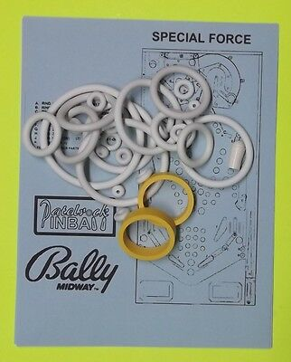 1986 Bally//Midway Strange Science Rubber Ring Kit