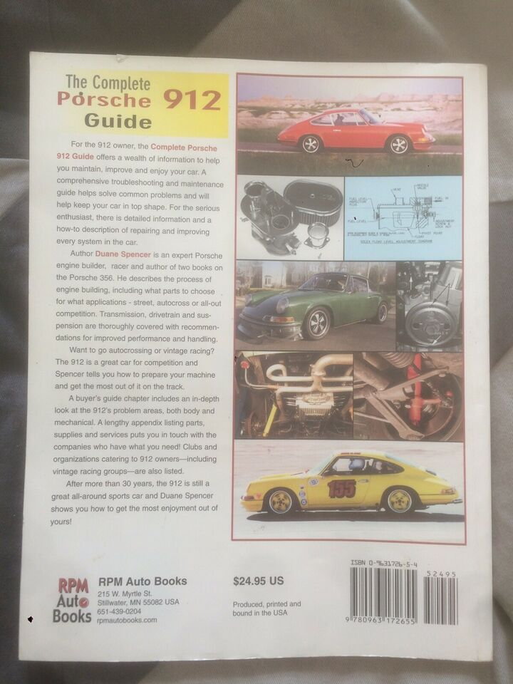 Andre reservedele, Manual og indtruktionsbog, Porsche