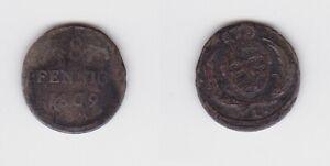 8 Pfennige Billon Münze Sachsen 1809 H 130204 Attraktives Aussehen