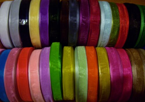 Pink Woven Edge Organza Ribbon 3mm 6mm 10mm 19mm 25mm 38mm