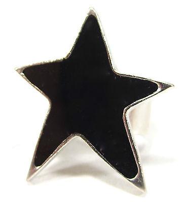 SoHo® Ring schwarzer Stern Kunstharz black retro resin gothik punk star schwarz