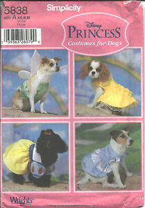 Image is loading S-5838-sew-pattern-DOG-COSTUMES-Disney-Princess- & S 5838 sew pattern DOG COSTUMES Disney Princess Belle Cinderella ...