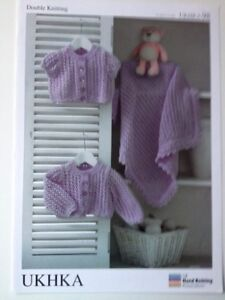 1cac7034a0eb NEW Babys Knitting Pattern BHKC 98 Cardigans   Blanket 12-22 DK See ...