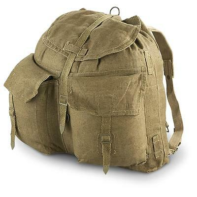 NEW / USED Vintage CZECH Army Retro M60 Rucksack Backpack CANVAS OLIVE KHAKI
