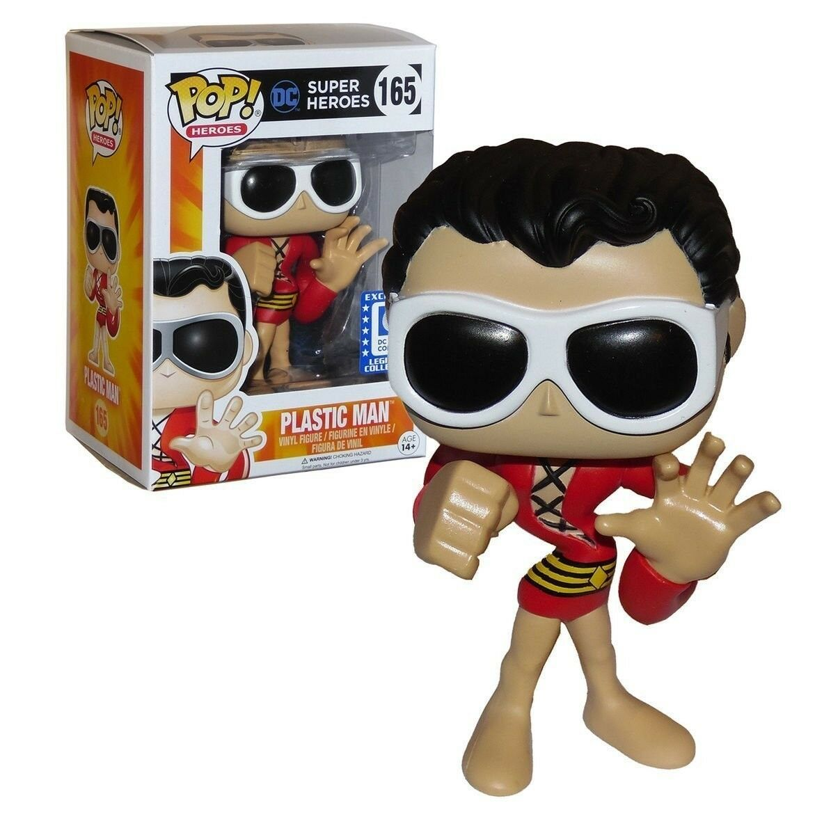 FUNKO POP HEROES DC SUPER HEROES  165 PLASTIC MANDC LOC EXCLUSIVE VINYL