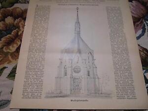 1896 Baugewerkszeitung 50/pelerinage Chapelle Architecte Rincklake-ung 50 / Wallfahrtskapelle Architekt Rincklake Fr-fr Afficher Le Titre D'origine Produire Un Effet Vers Une Vision Claire