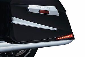 Kuryakyn Black Rear Saddlebag Extensions Led Lights