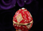 Royal Red Gold Faberge Vintage Russian Egg European Easter Trinket Jewellery Box