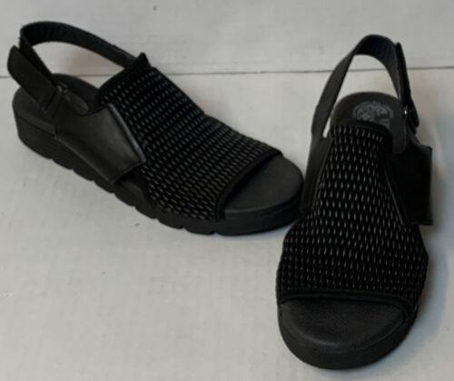 Worishofer Womens Black Leather Sandals EU 40/US 8