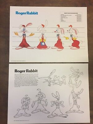 Erfinderisch Who Framed Roger Rabbit Style Guide Folder Modischer 18 Model Sheets In Stil; walt Disney 1987
