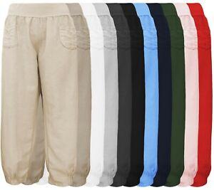 Heiß-Verkauf am neuesten suche nach dem besten Los Angeles Details zu Leinenhose in Übergröße - Sommerhose mit Gummizug - weit +  locker Gr. 4XL - 5XL