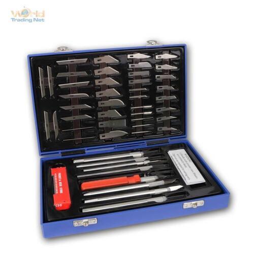 48-Teiliges Skalpell Messer Set Bastelmesser Präzisionsmesser für Modellbau