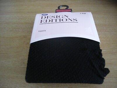 2019 Nuovo Stile 5 Paia Collant Da Donna Design Editions Nero Small-medium-nuovo In Confezione-mostra Il Titolo Originale Numerosi In Varietà