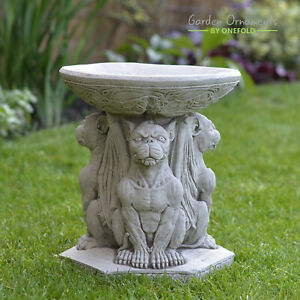 Bird Bath Pedestal Water Bowl Traditional Outdoor Garden Ornament New