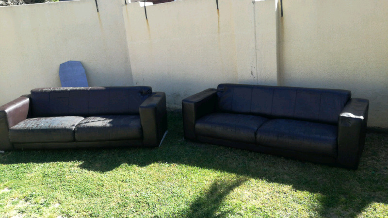 2 x long seater couches