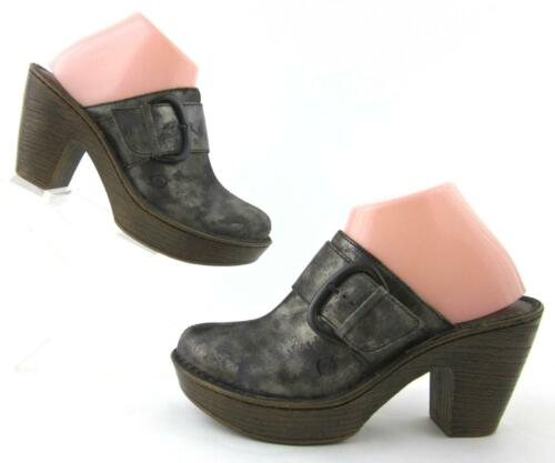 8 Born Clogs 'ibra' Leather Slide Us staat Metallic Moro Fantastische Platform 1xqTBFanx8