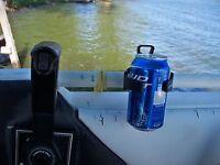 Boat Round Handlebar Mounted Cup Drink Holder Mounts Adjustable