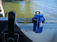 Boat Round Handlebar Mounted Cup Drink Holder Mounts Adjustable