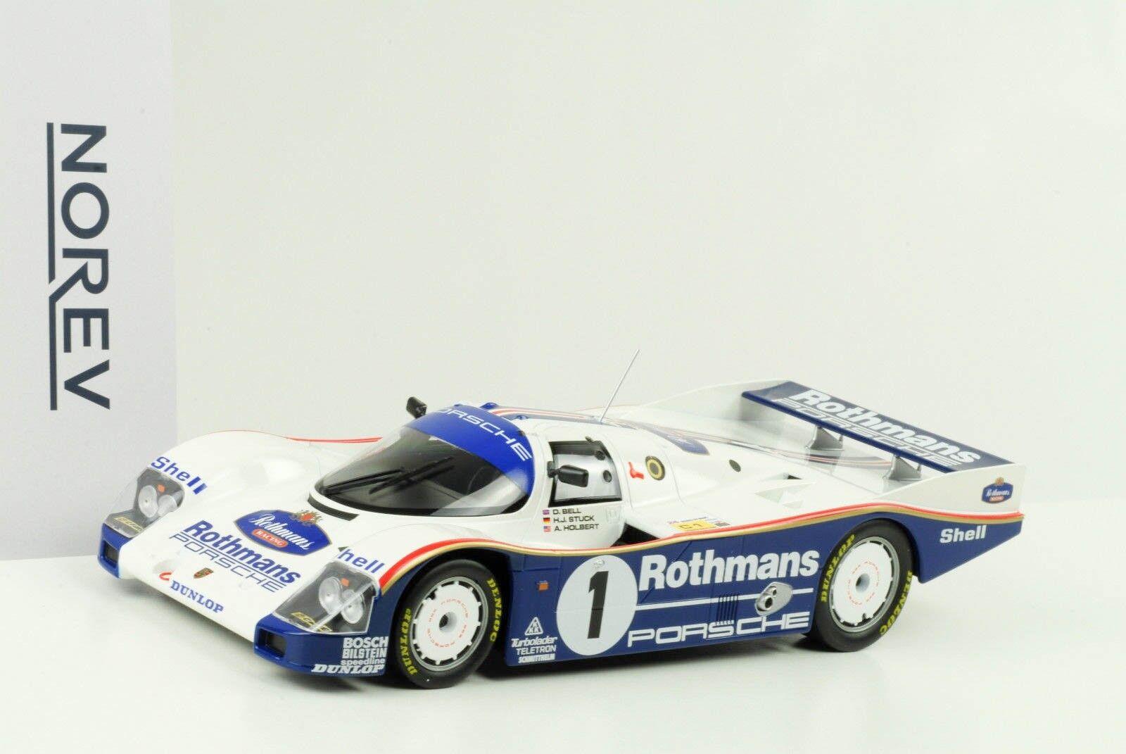 Porsche 962 C  1 WINNER 24 H LE MANS 1986 Bell stuc Holbert 1 18 Norev