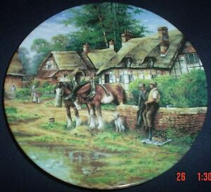Wedgwood Limited Edition Collectors Plate EARLY MORNING MILK Shire Horse Boxed 3