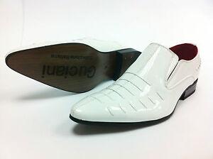 a3c9d255418 La imagen se está cargando Hombre-Estilo-Italiano-Charol-look-polainas- Zapatos-Oxford-