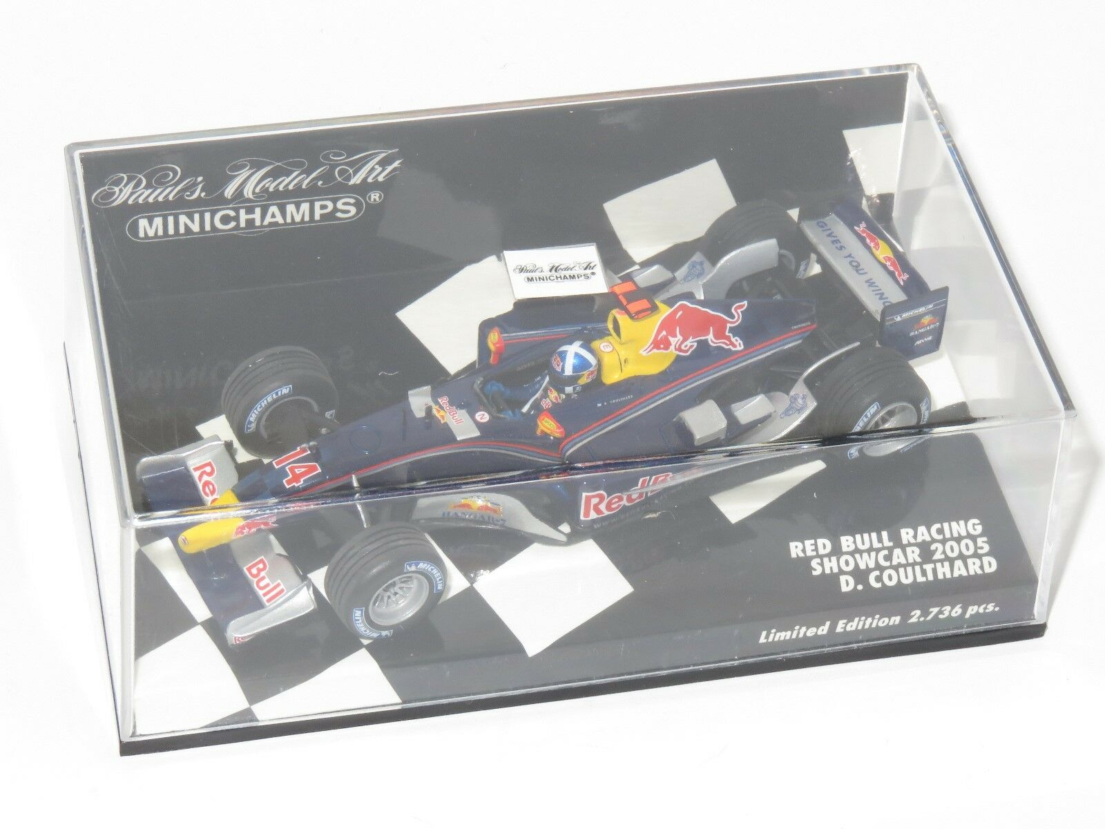1/43 rosso BULL RACING Cosworth Showcar 2005 D. Coulthard