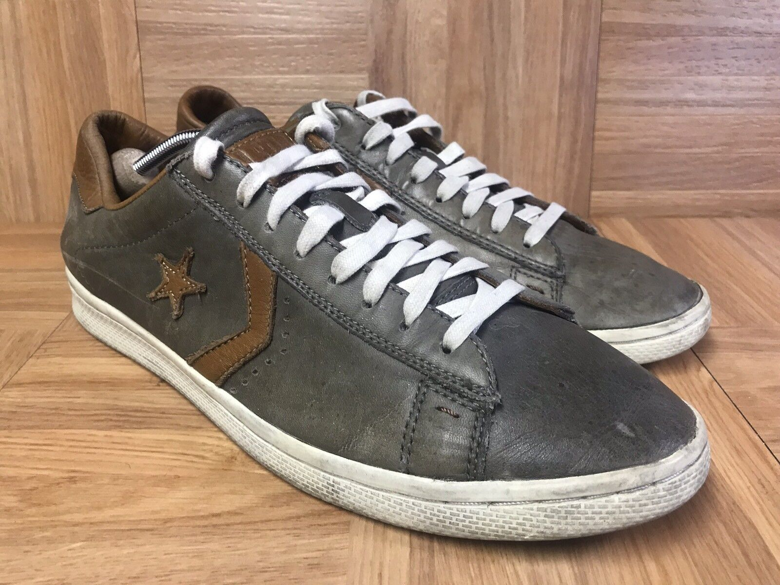 RARE Converse John Varvatos PRO Low Leather OX Charcoal Sneakers OX SZ 11 Bird