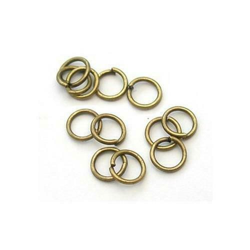 300 x SILVER PLATED Iron STRONG 4mm Split Jump Rings Craft Jewellery Making