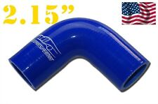 """4PLY Silicone 90 Degree Elbow Connector Joiner Turbo Hose 55mm 2.15"""" 2 5/32"""" BL"""