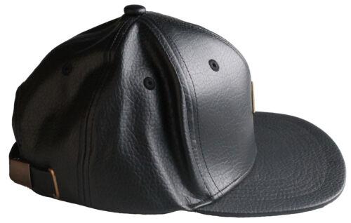 Staple Men/'s Complex Black Leather Strap Back Hat NWT
