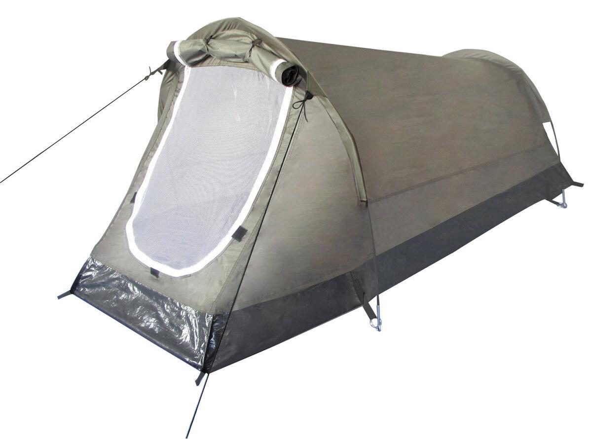 Tienda Tunel Camuflaje 2 de Campaña Personas para Dos Dos Dos Camping Oliva Manchas ee39ea