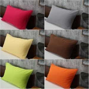 Solid-Color-Cotton-Bed-Pillowcases-Bedding-Pillow-Case-Cover-Standard-Queen-Size