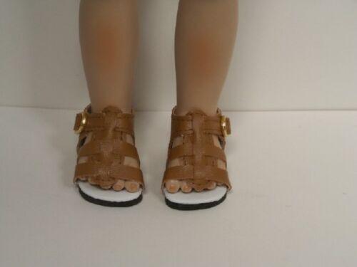 "LT Light BROWN Strappy Custom Made Doll Shoes For 10/"" Berdine Creedy Vinyl DEBs"