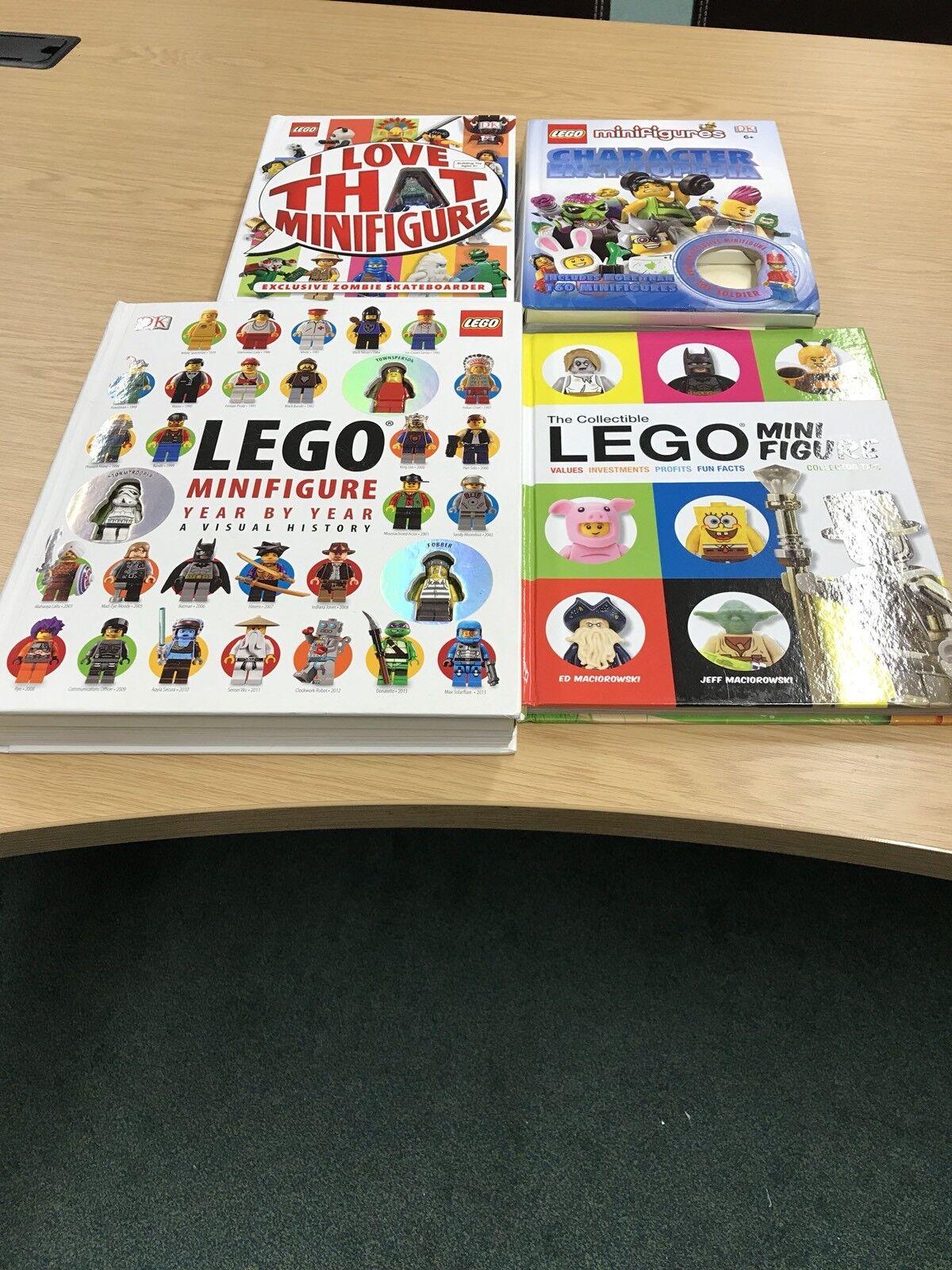 Lego Books Bundle 4 In Total Mini Figures. Collectors Including Mini Figures