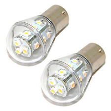 2x HQRP Car Pure White BA15S 1156 Boat RV Car Auto 12V 24V LED Light Glass Bulbs